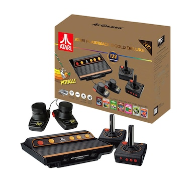 Atari Flashback 8 Gold Deluxe HD Console with 120 Built-in Games and Paddle Controllers (AR3620X)