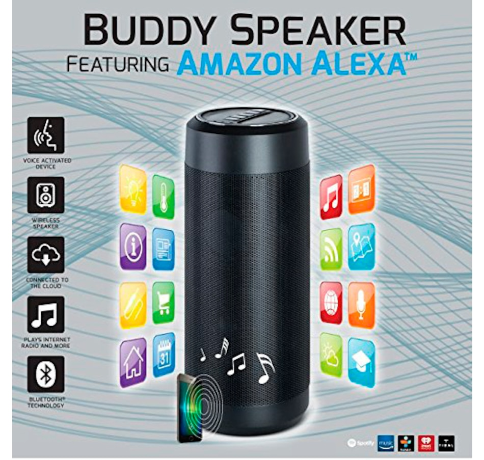 SoundLogic XT Wi-Fi and Bluetooth Buddy Speaker with Voice-Enabled Amazon  Alexa and 8-Year Tech Support