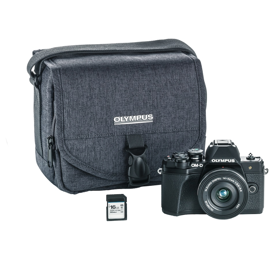 Image 660295_BLK.jpg , Product 660-295 / Price $779.99 , Olympus OM-D E-M10 Mark III Camera with 14-42 EZ Lens Kit, 16GB SD Card and Camera Bag from Olympus on TSC.ca's Electronics department