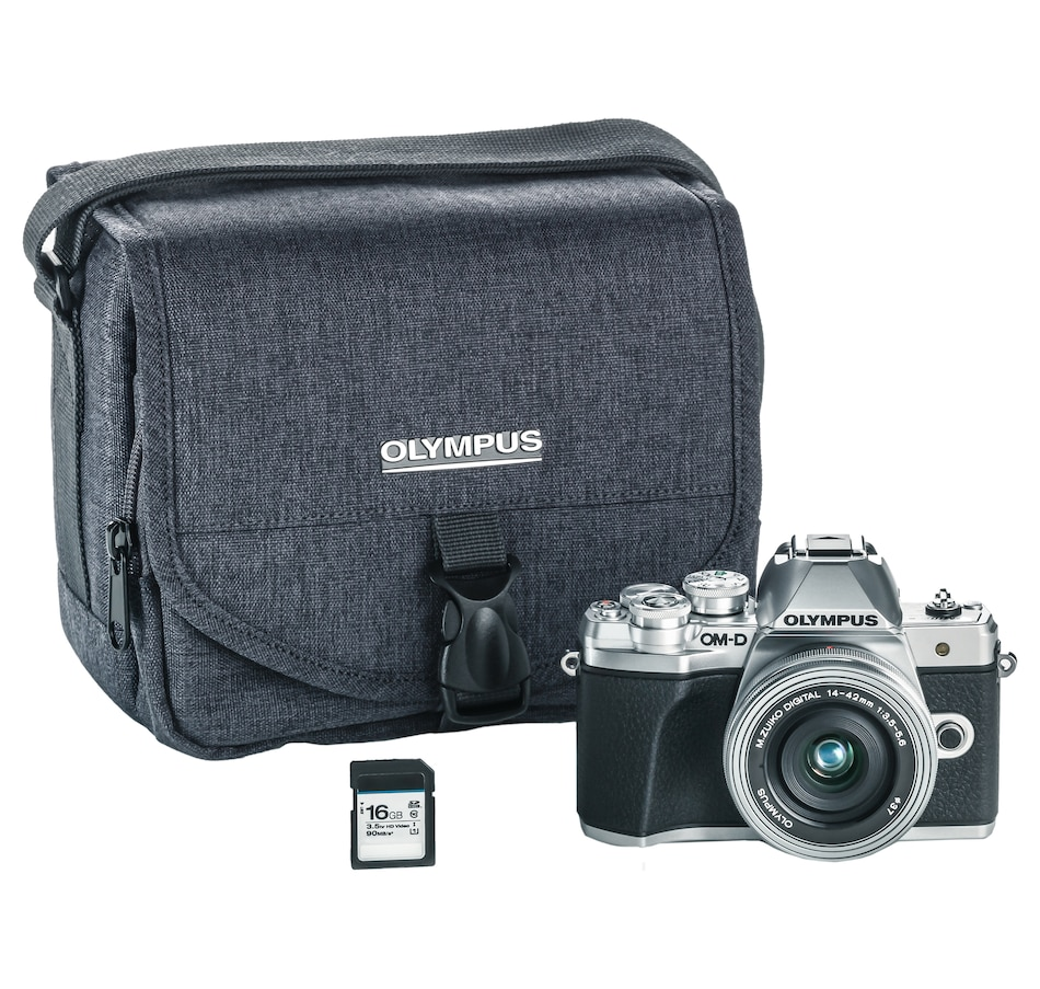 Image 660295_SIL.jpg , Product 660-295 / Price $999.99 , Olympus OM-D E-M10 Mark III Camera with 14-42 EZ Lens Kit, 16GB SD Card and Camera Bag from Olympus on TSC.ca's Electronics department