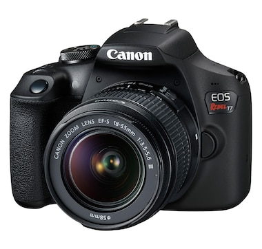 Canon EOS Rebel T7 with EF-S 18-55 mm DC III