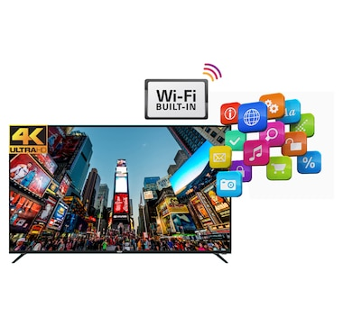 "RCA 55"" SMART 4K UHD LED TV with HDMI CABLE (RNSMU5536)"