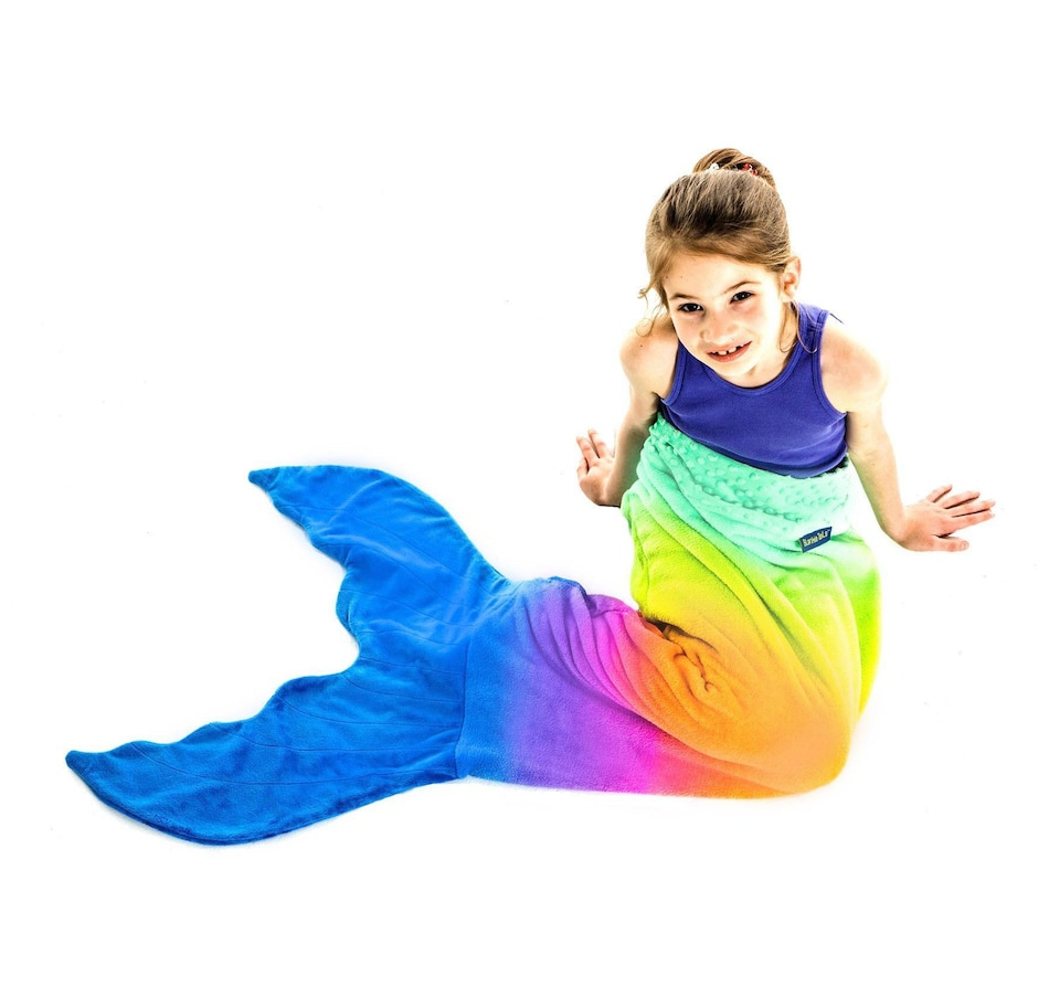 Image 661122.jpg , Product 661-122 / Price $49.99 , Blankie Tails Rainbow Ombre Mermaid Tail Blanket for Kids from Blankie Tails on TSC.ca's Home & Garden department