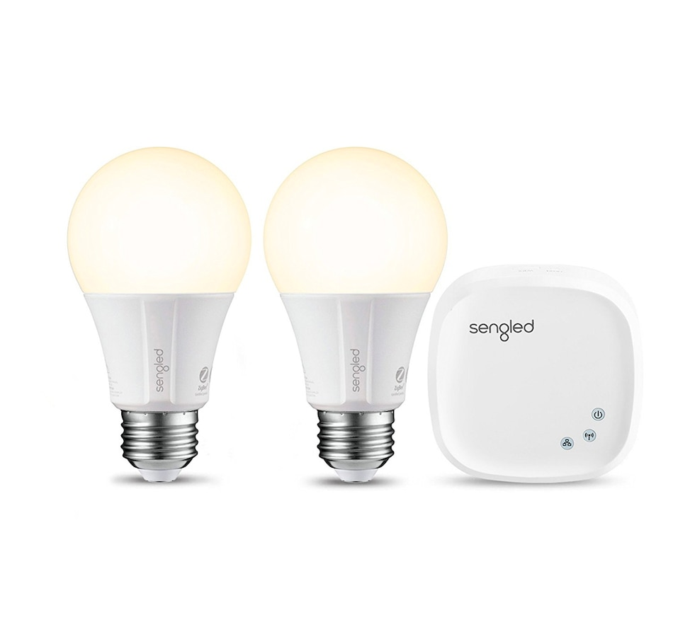 Image 661193.jpg , Product 661-193 / Price $92.99 , Sengled E21-G14W-K Element Kit with Hub 2 White and One Colour from sengled on TSC.ca's Electronics department