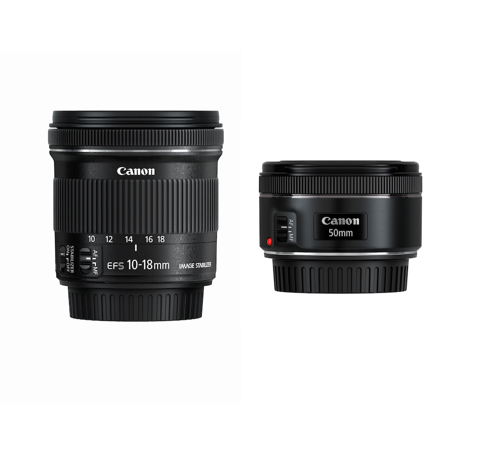 Image 661588.jpg , Product 661-588 / Price $449.99 , Canon Travel Lens Bundle with EF 50 mm + EF-S 10-18 mm Lens from Canon on TSC.ca's Electronics department