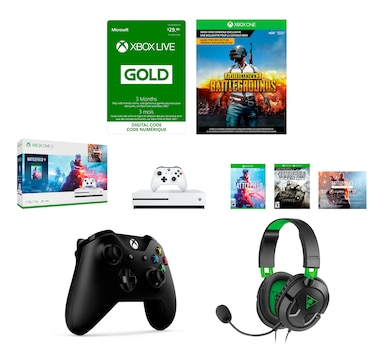 Xbox One S 1TB Battlefield Bundle with Extra Controller, Turtle Beach Headset and 3-Month Live Gold Membership