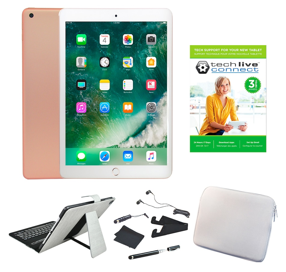 "Image 661770_GOS12.jpg , Product 661-770 / Price $729.99 - $899.99 , 2018 Apple iPad 9.7"" 32GB or 128GB Bundle from Apple on TSC.ca's Electronics department"