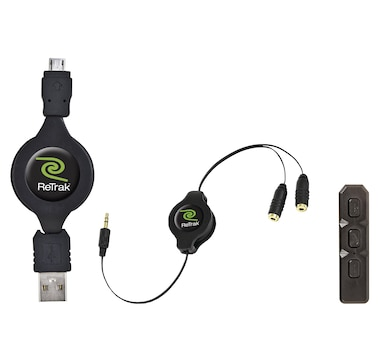 Retrak Bluetooth Adapter and Retractable Micro USB Charging Cable