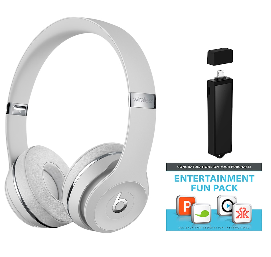 Image 661955_SATSV.jpg , Product 661-955 / Price $249.99 , Beats Solo 3 Wireless Headphone Bundle with Power Wand, Power Bank and Entertainment App Pack from Beats by Dr. Dre on TSC.ca's Electronics department