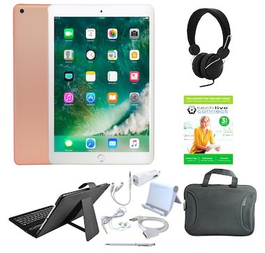 """Apple iPad 9.7"""" 32GB or 128GB Tablet Bundle with 3-Year Tech Support"""