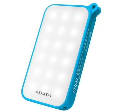 Adata LED D8000L 8,000 mAh IP54 Dust and Waterproof Power Bank
