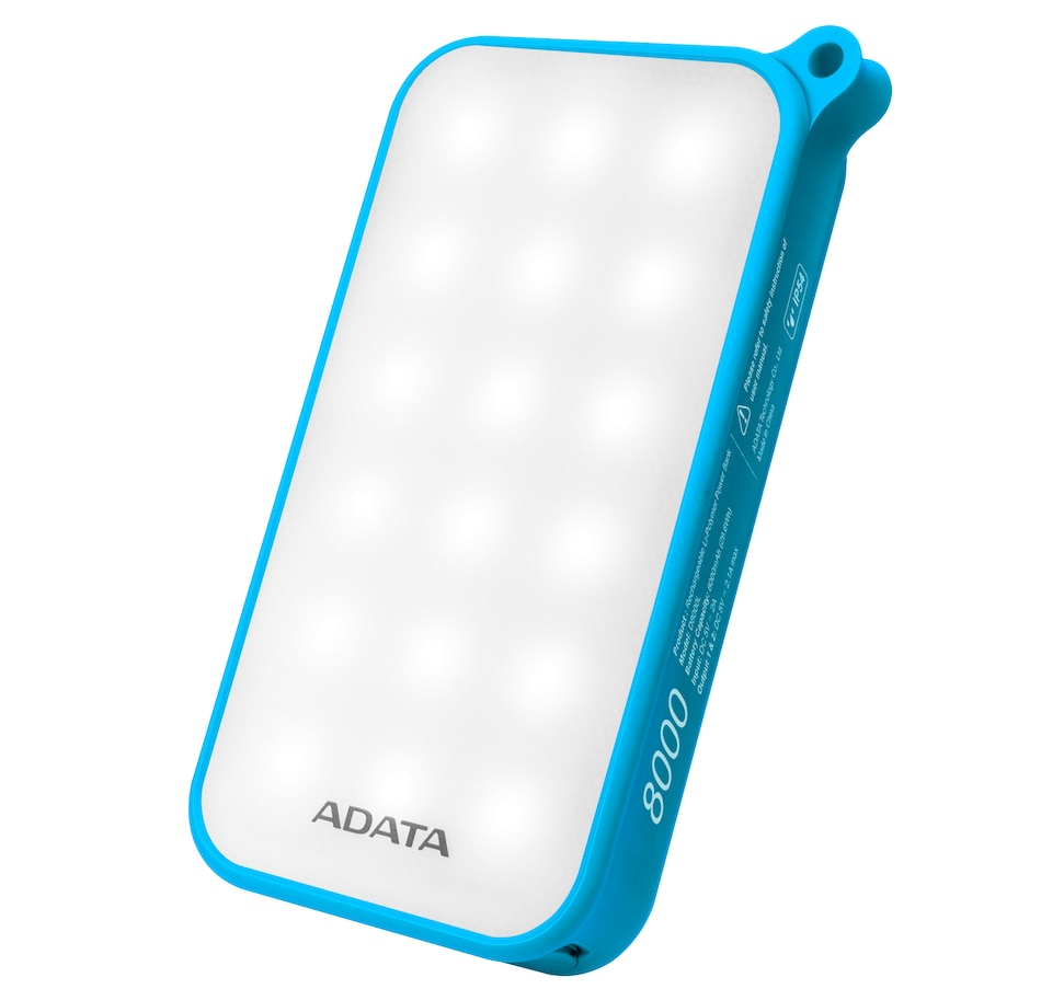 Image 662017.jpg , Product 662-017 / Price $34.99 , Adata LED D8000L 8,000 mAh IP54 Dust and Waterproof Power Bank from Adata on TSC.ca's Electronics department