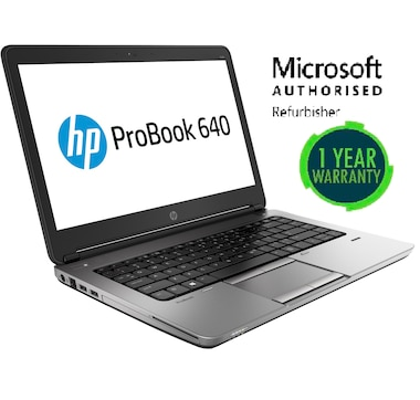 HP EliteBook 640 G1 Intel i5-4300U 4GB RAM 128GB Hard Drive Windows 10 Home Refurbished
