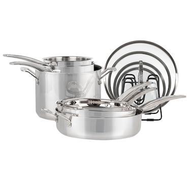 Cuisinart 11-Piece Nesting Stainless-Steel Cookware Set