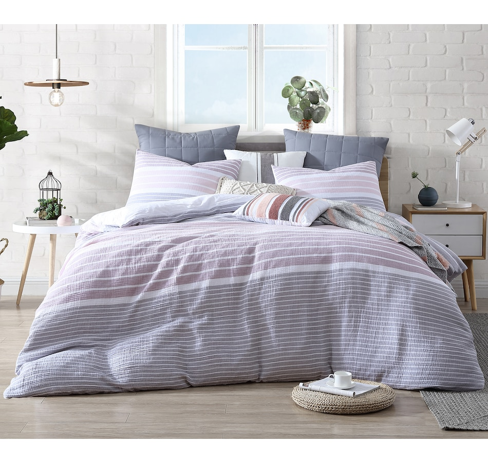 Image 662588_MVE.jpg , Product 662-588 / Price $94.99 - $114.99 , Swift Home Cordelia 3-Piece Cotton Duvet Cover Set from Swift  on TSC.ca's Home & Garden department