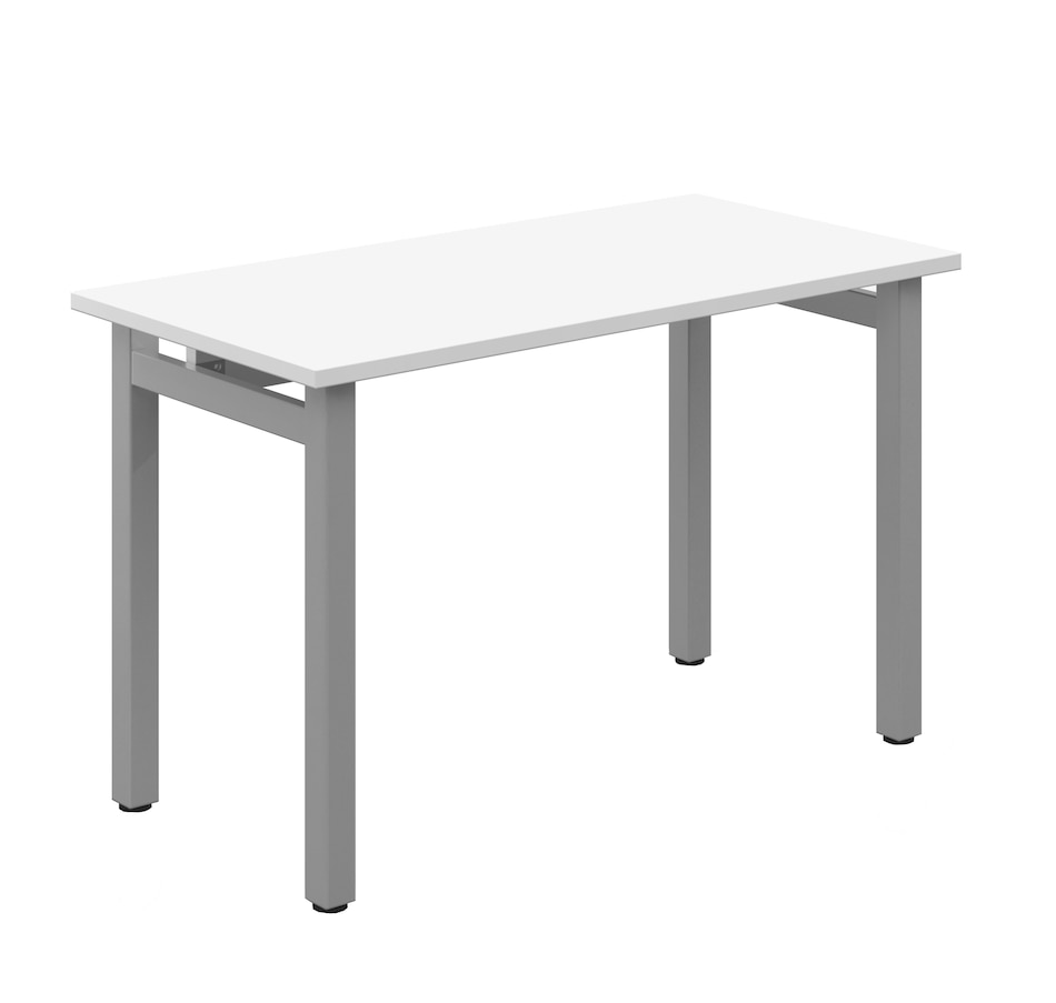 """Image 662610.jpg , Product 662-610 / Price $269.99 , Offices to Go Rectangular Table Desk (designer white/silver, 48"""" x 24"""") from Offices To Go on TSC.ca's Home & Garden department"""