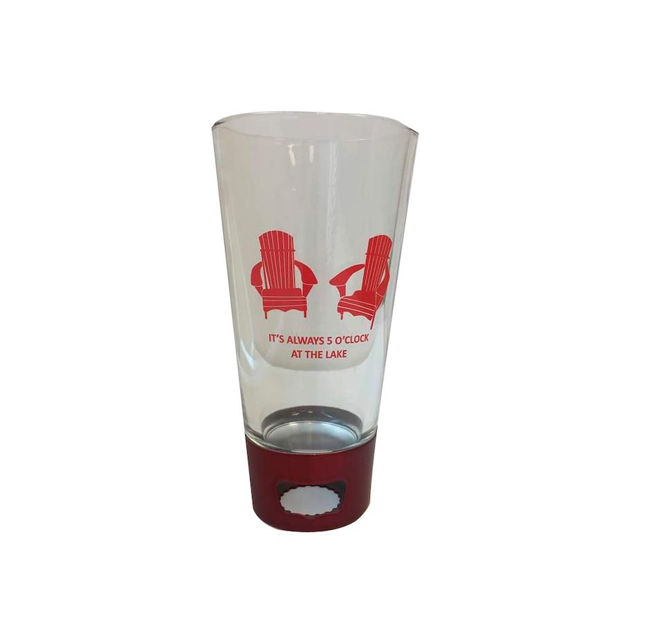 aca553c068a Buy AdNArt 16 oz. Red Chairs 5 O'Clock Pint Glass Opener Tumbler ...