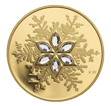 2006 14-Karat Gold Coin $300 Crystal Snowflake