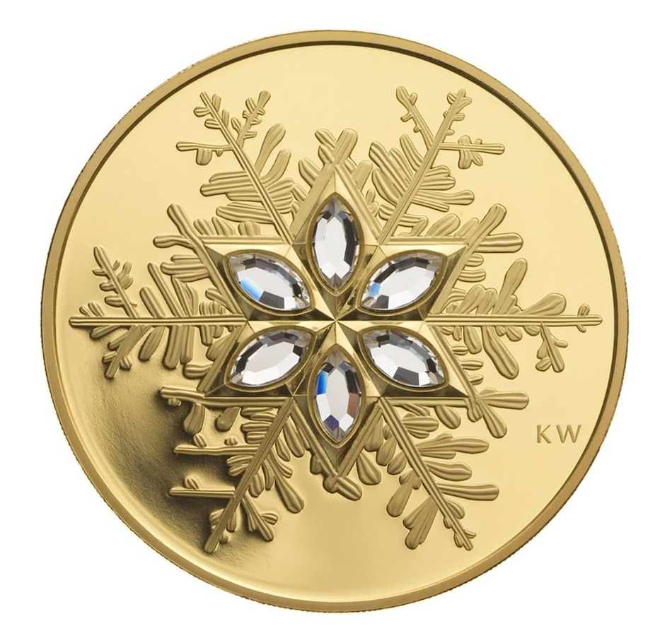 Image 663435.jpg , Product 663-435 / Price $2,795.00 , 2006 14-Karat Gold Coin $300 Crystal Snowflake from Royal Canadian Mint on TSC.ca's Coins department