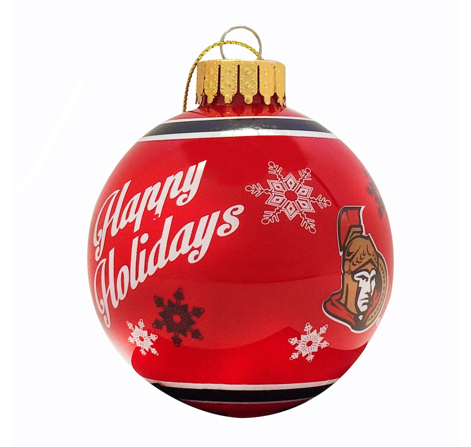 Image 663457.jpg , Product 663-457 / Price $12.99 , Ottawa Senators Printed Glass Ball Ornament  on TSC.ca's Sports department