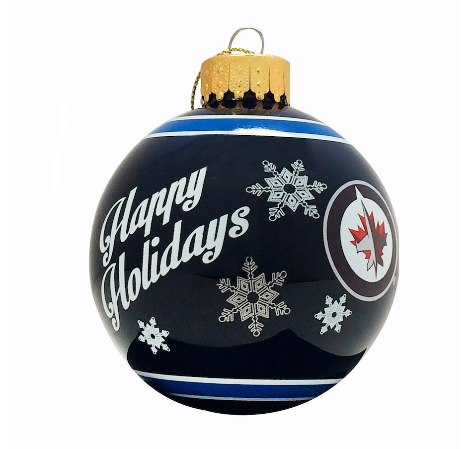 Image 663459.jpg , Product 663-459 / Price $12.99 , Winnipeg Jets Printed Glass Ball Ornament  on TSC.ca's Health & Fitness department