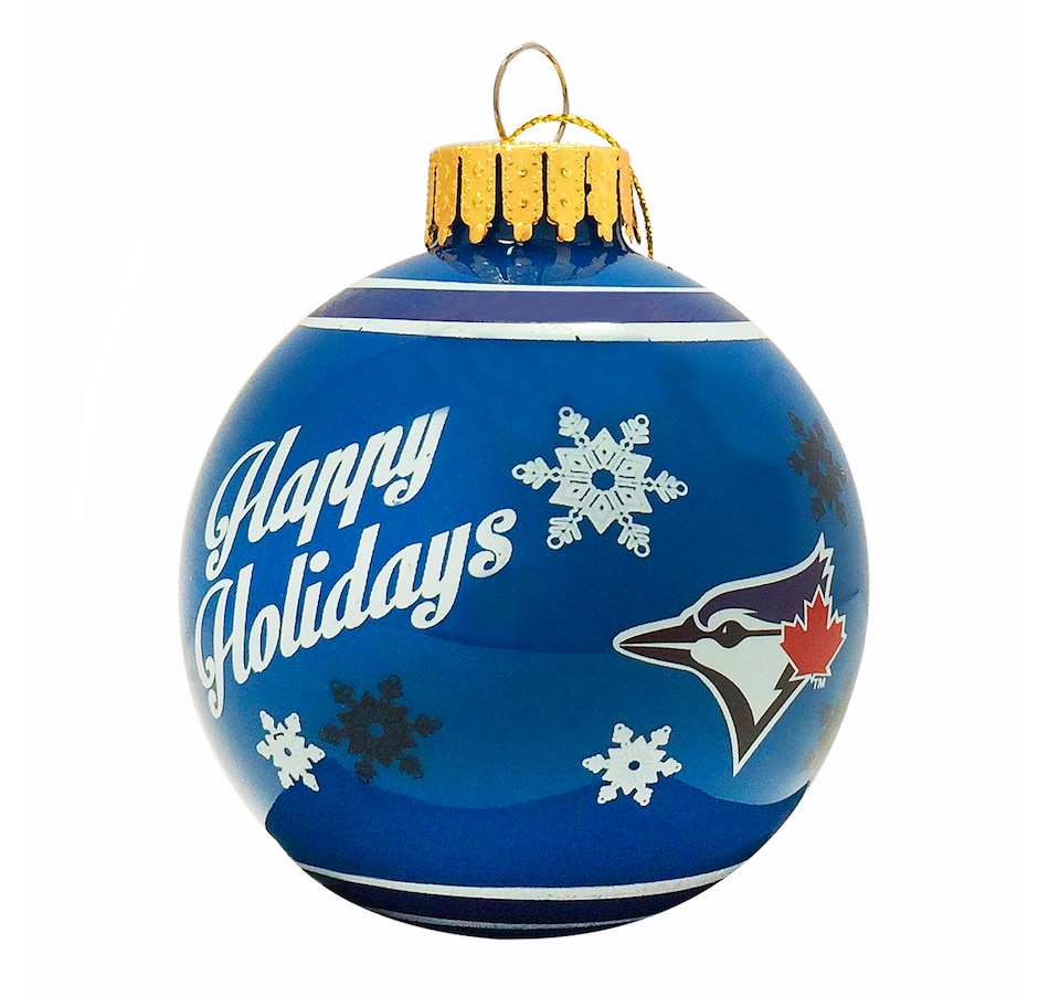 Image 663460.jpg , Product 663-460 / Price $12.99 , Toronto Blue Jays Printed Glass Ball Ornament  on TSC.ca's Sports department