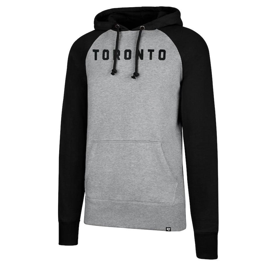 Image 663893.jpg , Product 663-893 / Price $90.00 , Toronto Raptors NBA Raglan Sport Hoodie from 47 Brand on TSC.ca's Health & Fitness department