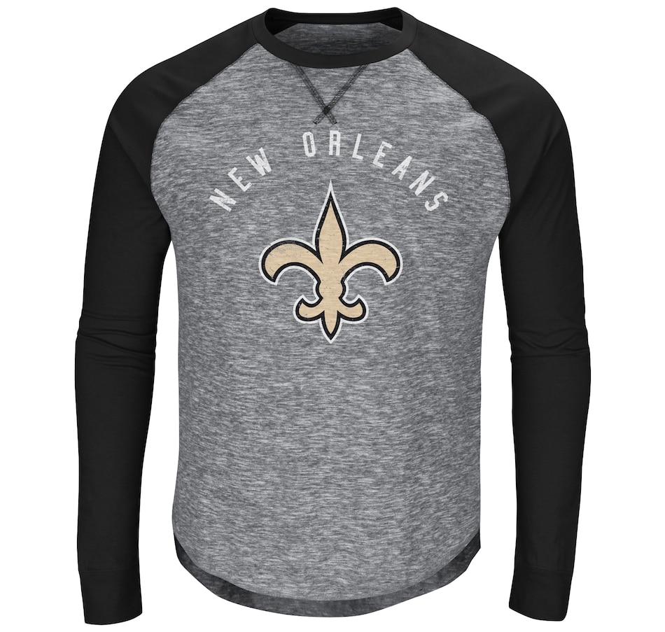 Image 663915.jpg , Product 663-915 / Price $49.99 , New Orleans Saints NFL Corner Blitz Long Sleeve Raglan Tee from Majestic on TSC.ca's Health & Fitness department
