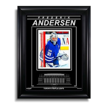 Frederik Andersen Toronto Maple Leafs Engraved Framed Photo - Focus