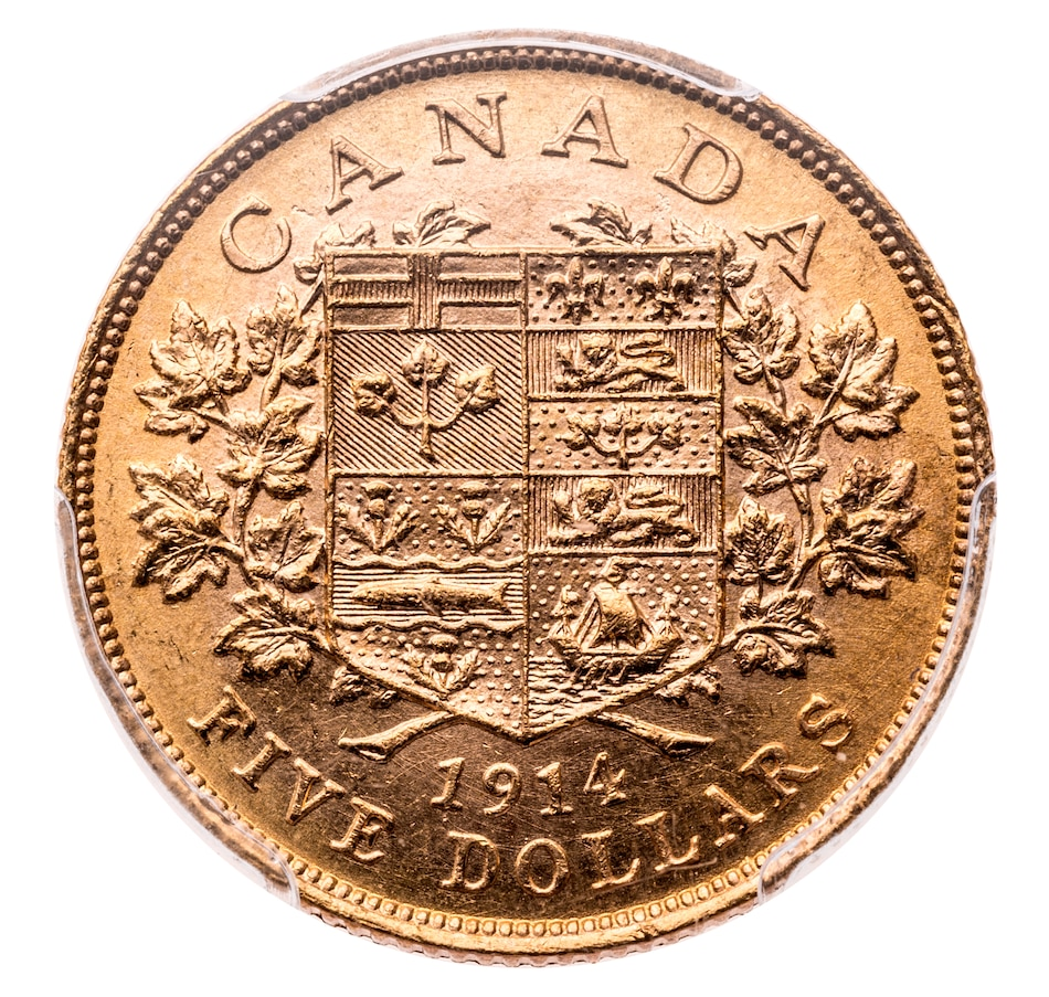 Canada $5 Gold Coin PCGS Certified MS-64