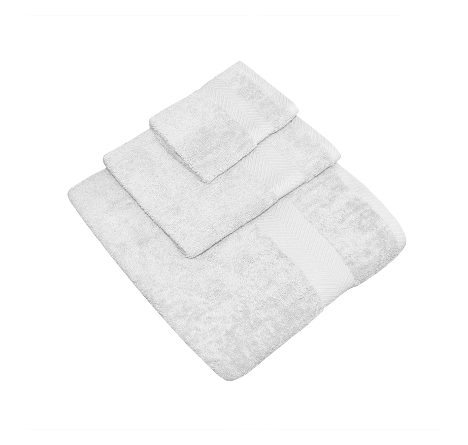 Image 664457_WHT.jpg , Product 664-457 / Price $99.99 , Millano Collection Hotel Stripe 12-Piece Terry Cotton Towel Set from Millano on TSC.ca's Home & Garden department
