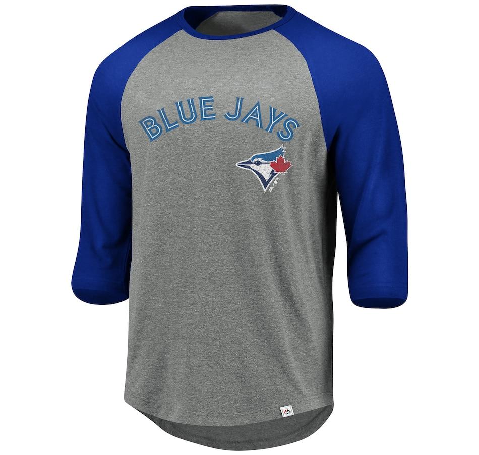 Image 664631.jpg , Product 664-631 / Price $38.50 , Toronto Blue Jays MLB This Season Raglan Tee from Majestic on TSC.ca's Sports department