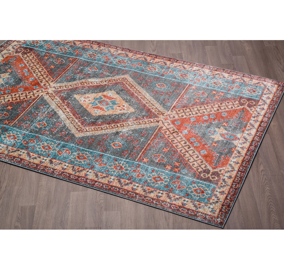Image 664945.jpg , Product 664-945 / Price $87.99 - $175.99 , Viana Venesia Tribal Multi-Colored Soft Pile Rug from Viana Inc on TSC.ca's Home & Garden department