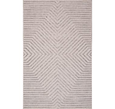 Carnival Indoor/Outdoor Polypropylene Light Grey Rug
