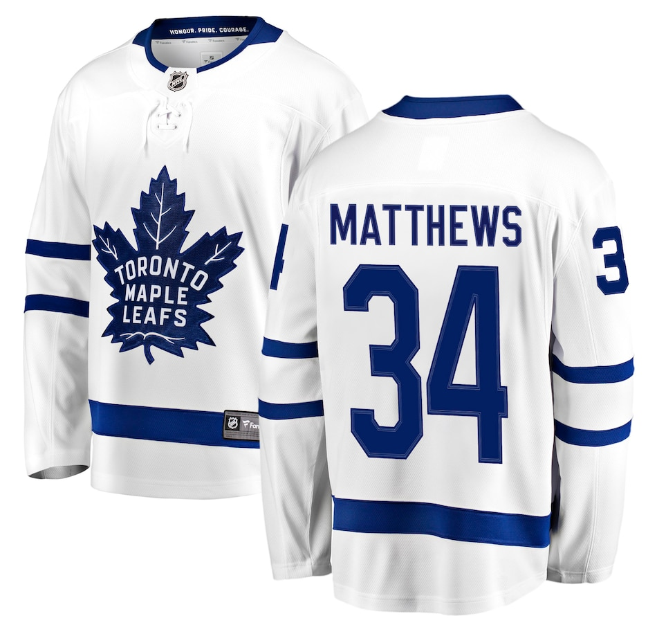 Image 665568.jpg , Product 665-568 / Price $219.99 , Auston Matthews Toronto Maple Leafs NHL Fanatics Breakaway Away Jersey from Fanatics on TSC.ca's Sports department