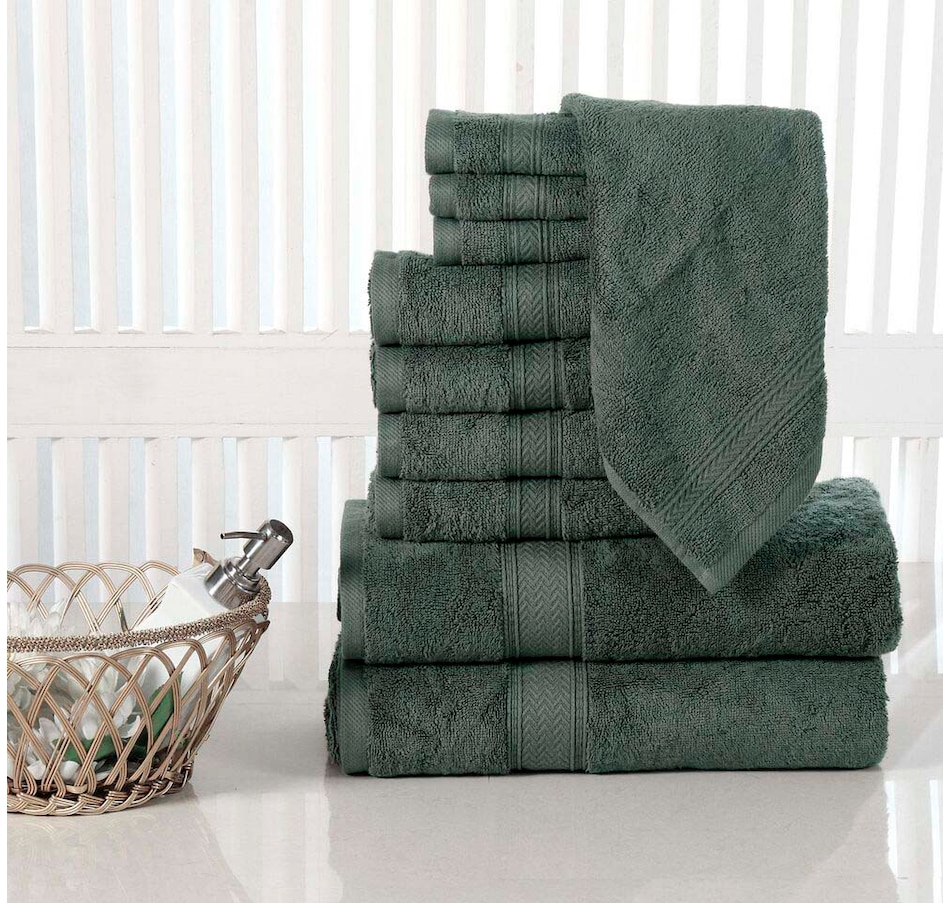 Image 665613_GRY.jpg , Product 665-613 / Price $149.99 , Casa Platino Luxurious Cotton 10-Piece Bath Towel Set  on TSC.ca's Home & Garden department