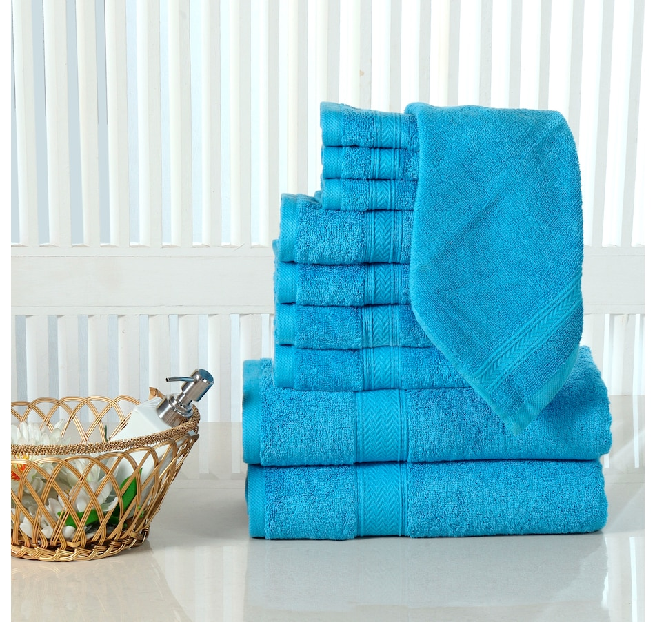 Image 665613_SEU.jpg , Product 665-613 / Price $153.99 , Casa Platino Luxurious Cotton 10-Piece Bath Towel Set  on TSC.ca's Home & Garden department