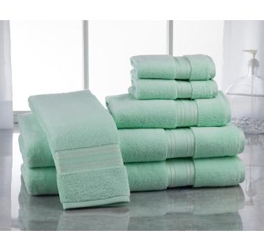 Lezeth Collection 100% Zero Twist Cotton 6-Piece Bath Towel Set