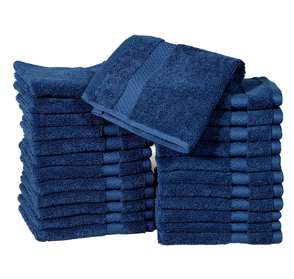Image 665620_NVY.jpg , Product 665-620 / Price $72.99 , Casa Platino 100% Combed Cotton 24-Pack Washcloths  on TSC.ca's Home & Garden department