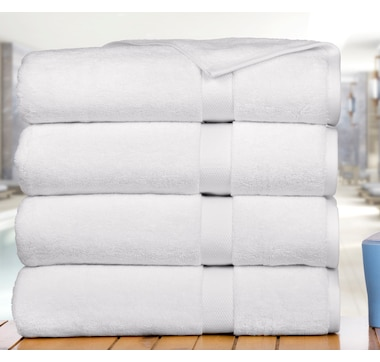 Affinity Linens Premium Madhvi Collection 800 GSM 4-Pack Oversized Bath Towels