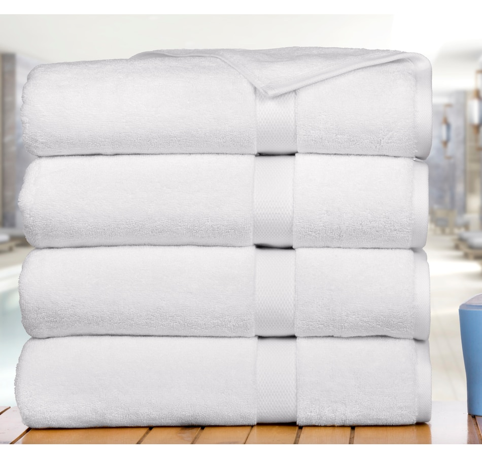 Image 665622_WHT.jpg , Product 665-622 / Price $169.99 , Affinity Linens Premium Madhvi Collection 800 GSM 4-Pack Oversized Bath Towels  on TSC.ca's Home & Garden department