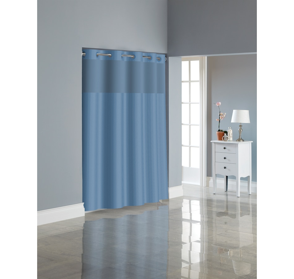 Image 665630_BLU.jpg , Product 665-630 / Price $62.99 , Hookless Herringbone Shower Curtain with PEVA Liner  on TSC.ca's Home & Garden department