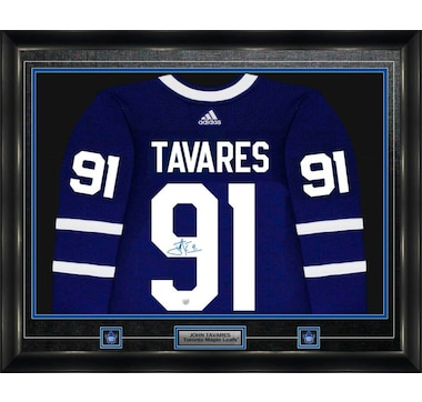 3bff16df6 Frameworth John Tavares Signed Jersey Framed Pro A didas Toronto Maple  Leafs Home Blue