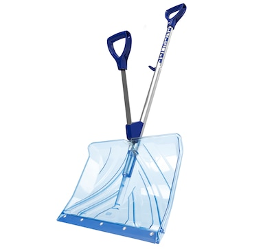 "Snow Joe Shovelution 18"" Polycarbonate Snow Shovel with Spring-Assisted Handle"