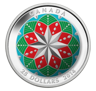 2014 $25 Fine Silver Coin Christmas Ornament