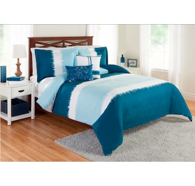 Beco Home Stripe Suede Faux Suede Comforter Set
