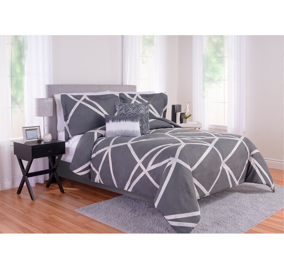 Image 666859.jpg , Product 666-859 / Price $108.99 , Beco Home Jagged Grey Faux Suede Comforter Set from Beco on TSC.ca's Home & Garden department