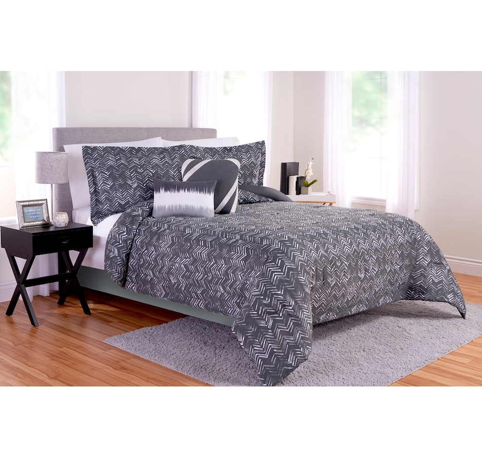 Image 666861.jpg , Product 666-861 / Price $174.99 , Beco Home Chevron Suede Faux Suede Comforter Set from Beco on TSC.ca's Home & Garden department