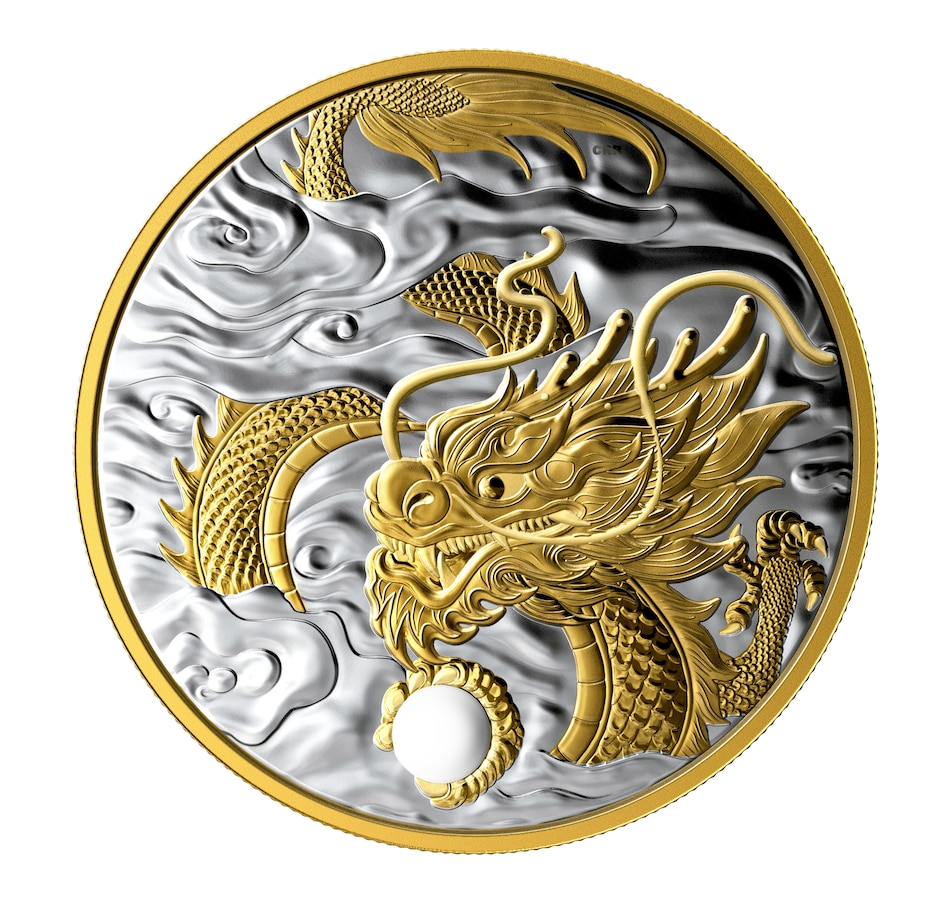 Image 667402.jpg , Product 667-402 / Price $1,288.88 , 2019 $125 Fine Silver Coin - The Benevolent Dragon from Royal Canadian Mint on TSC.ca's Coins department