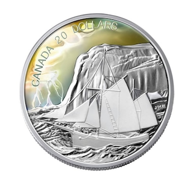 2006 $20 Fine Silver Coin The Ketch - Tall Ships